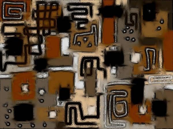Digital Art - Aerial Neighbourhood Abstract In Orange by Barbara St Jean