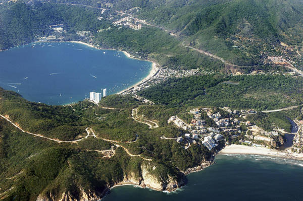 Ohau Wall Art - Photograph - Aerial  Of Acapulco Bay Mexico From Both Sides by Jodi Jacobson