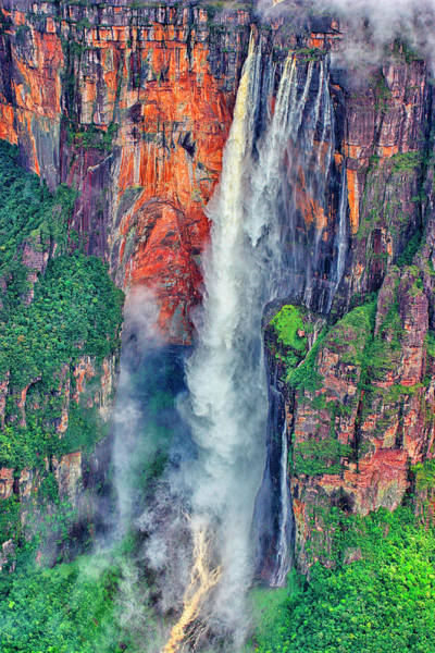 Wall Art - Photograph - Aerial Of Angel Falls, Canaima National by David Santiago Garcia