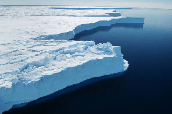 Shelf Cloud Photograph - Aerial Of Ice Shelf On Browning by Will Salter
