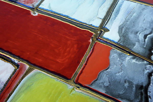 Agriculture Photograph - Aerial Of Salt Pans by Johnny Haglund