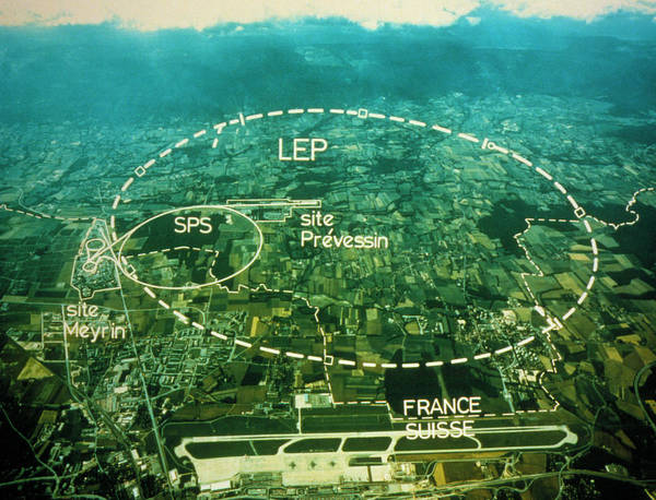 Particle Accelerator Wall Art - Photograph - Aerial Photo Of Cern Site by Cern/science Photo Library