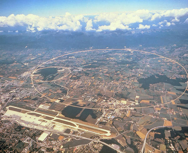 Particle Accelerator Wall Art - Photograph - Aerial Photo Of Lep Accelerator by Cern/science Photo Library