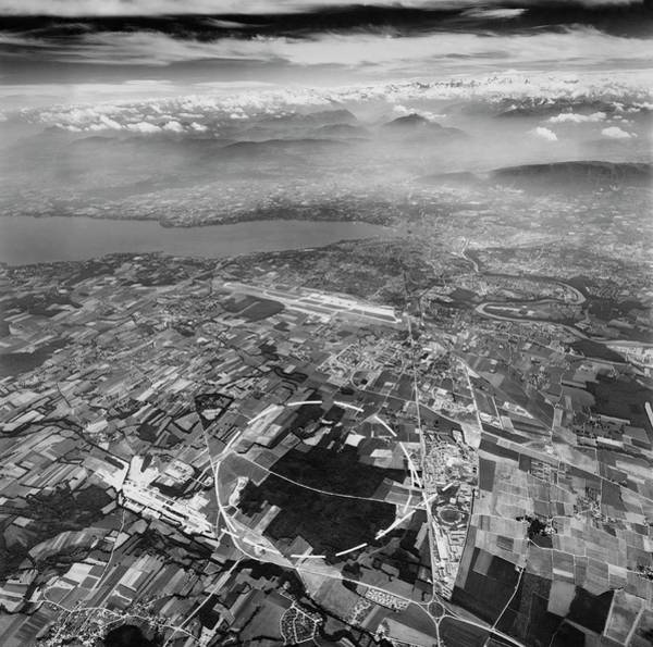 Particle Accelerator Wall Art - Photograph - Aerial Photo Of Path Of Sps Accelerator by Cern/science Photo Library