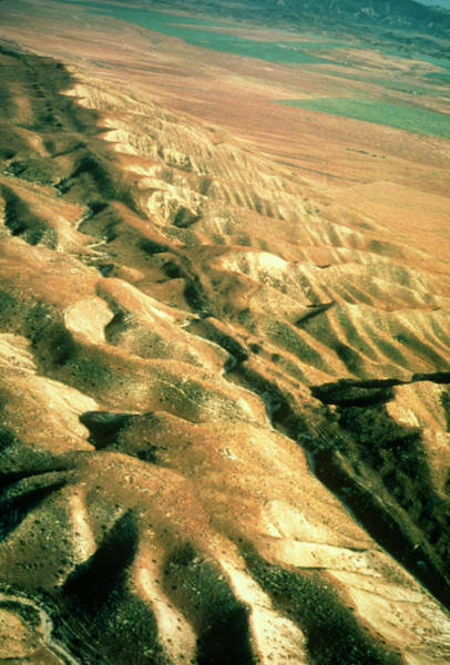 Wall Art - Photograph - Aerial Photograph Of San Andreas Fault by Us Geological Survey/science Photo Library