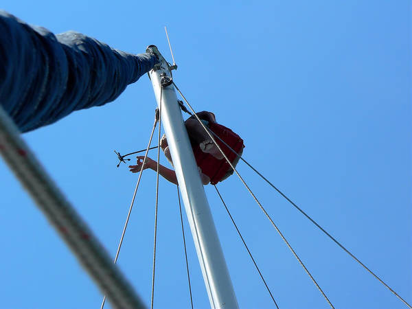 Photograph - Aerial Repair At Sea by Kathy K McClellan