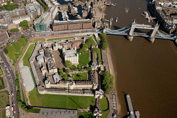 English Culture Photograph - Aerial Shot Of Tower Bridge And Tower by Michael Dunning