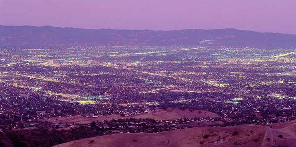 Purple Haze Photograph - Aerial Silicon Valley San Jose by Panoramic Images