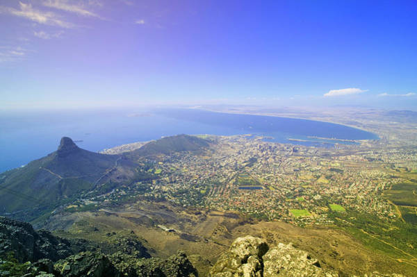 Table Mountain Wall Art - Photograph - Aerial View From Table Mountain by Panoramic Images