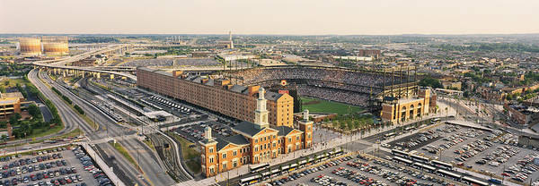 Camden Photograph - Aerial View Of A Baseball Stadium by Panoramic Images