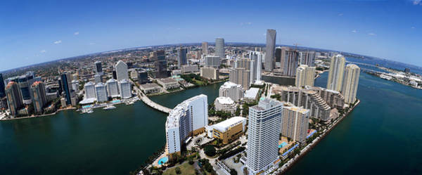 Dade Photograph - Aerial View Of A City, Miami by Panoramic Images