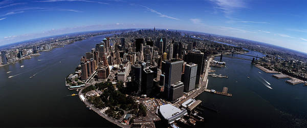 Wall Art - Photograph - Aerial View Of A City, New York City by Panoramic Images