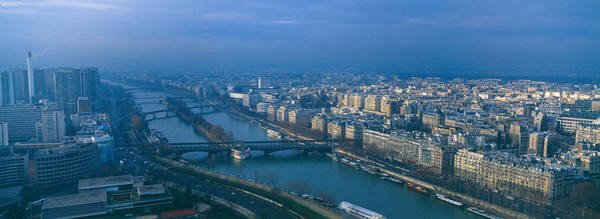 Wall Art - Photograph - Aerial View Of A City, Paris, France by Panoramic Images