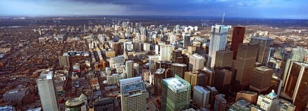 Cn Tower Wall Art - Photograph - Aerial View Of A City, Toronto by Panoramic Images