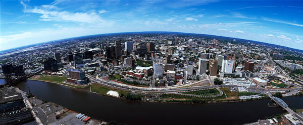 Wall Art - Photograph - Aerial View Of A Cityscape, Newark by Panoramic Images