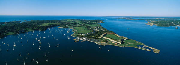 Narragansett Photograph - Aerial View Of A Fortress, Fort Adams by Panoramic Images