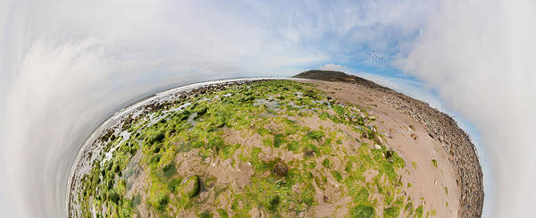 Fish Eye Lens Photograph - Aerial View Of A Landscape, Huntington by Panoramic Images