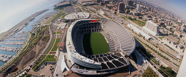 Soldier Field Photograph - Aerial View Of A Stadium, Soldier by Panoramic Images