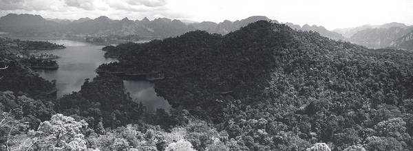 Aerial View Of A Valley, Kao Sok Art Print