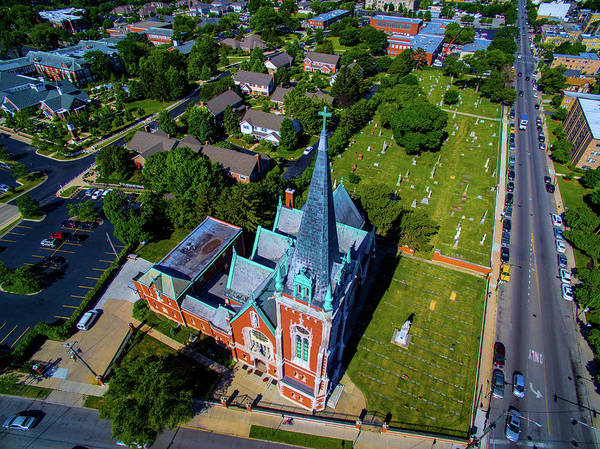 Famous Cemeteries Photograph - Aerial View Of Angel Guardian Church by Panoramic Images