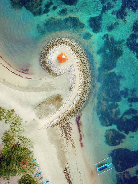Turqoise Photograph - Aerial View Of Beach, Denpasar Selatan by Evgeny Vasenev