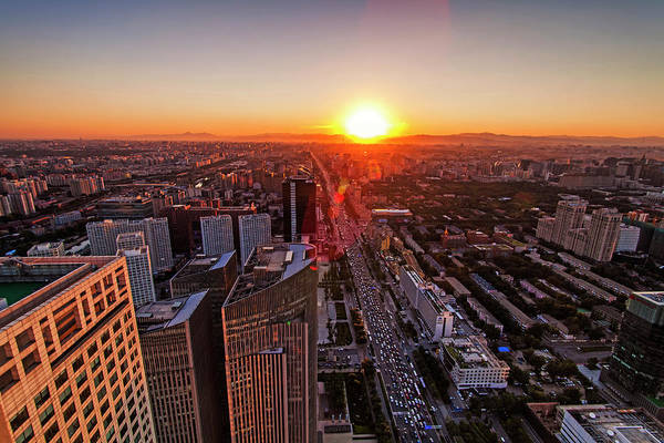 Wall Art - Photograph - Aerial View Of Beijing by Czqs2000 / Sts
