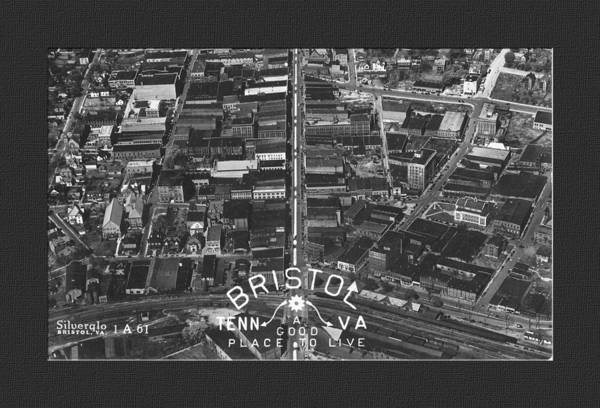 Photograph - Aerial View Of Bristol Tn Va by Denise Beverly