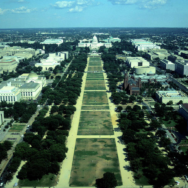 Smithsonian Photograph - Aerial View Of Capitol Building And by Hisham Ibrahim