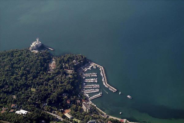 Friuli Photograph - Aerial View Of Castelo Di Miramare by Blom ASA