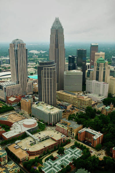 Charlotte Nc Wall Art - Photograph - Aerial View Of Charlotte, Nc by Panoramic Images