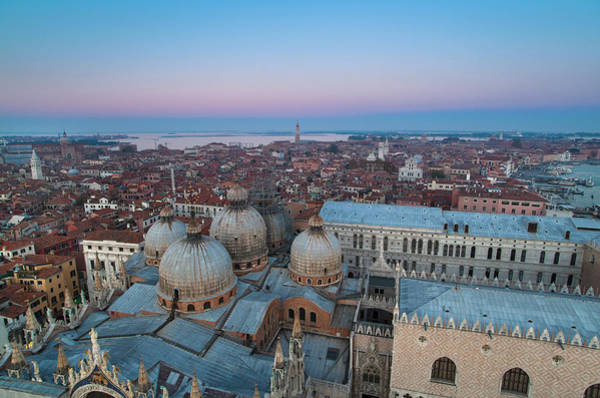 St Mark's Basilica Photograph - Aerial View Of Cityscape by Henglein And Steets