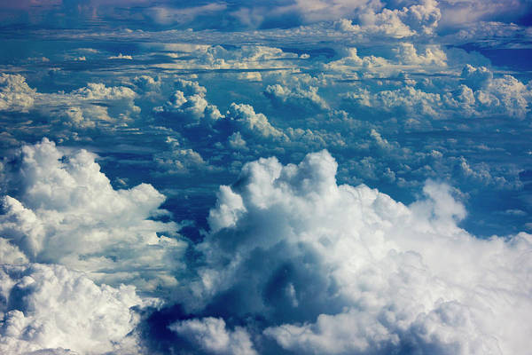 Wall Art - Photograph - Aerial View Of Clouds, China by Keren Su