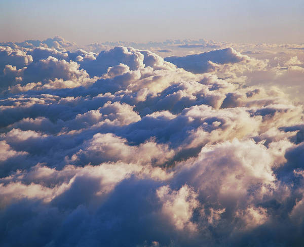 Cumulus Photograph - Aerial View Of Cumulus Clouds by Simon Fraser/science Photo Library