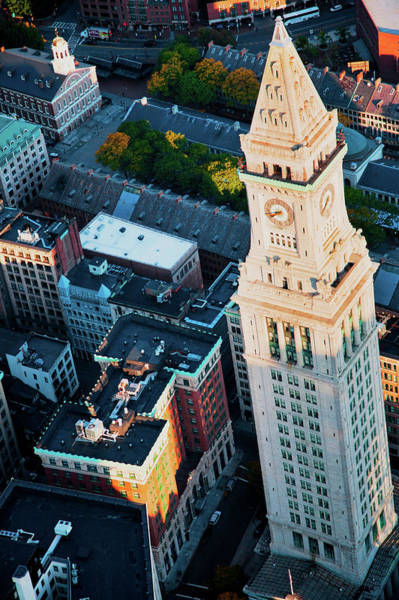 Leonard Photograph - Aerial View Of Custom House Tower by Panoramic Images