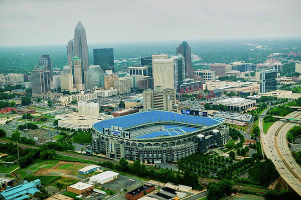 Charlotte Nc Wall Art - Photograph - Aerial View Of Ericcson Stadium by Panoramic Images