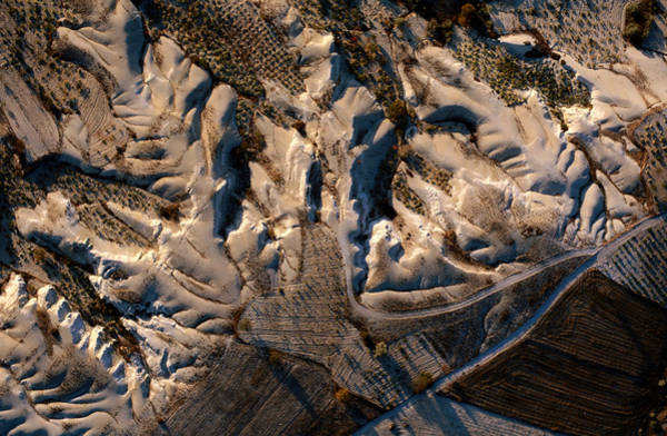 Nevsehir Photograph - Aerial View Of Eroded Landscape by John Elk