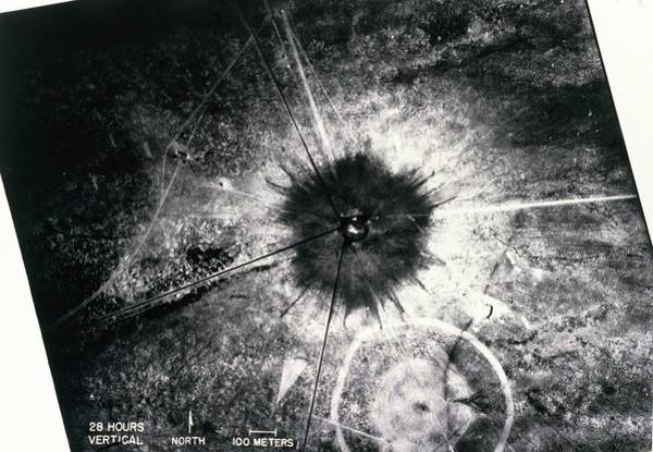 Atomic Bomb Photograph - Aerial View Of First Atom Bomb Test Site by Los Alamos National Laboratory/science Photo Library