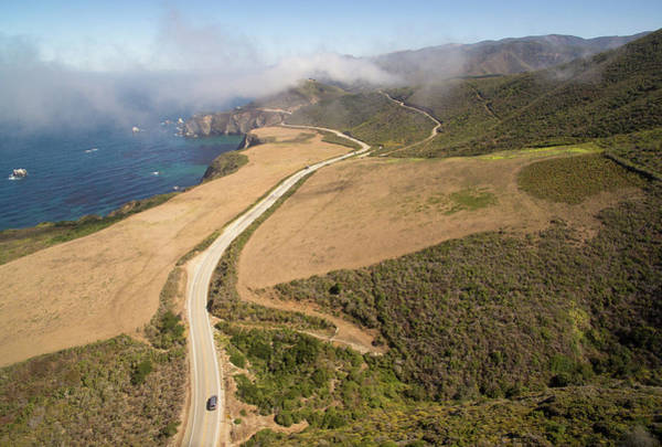 Wall Art - Photograph - Aerial View Of Fog Above Coastline by Matt Andrew