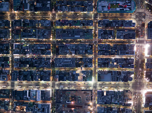 Ginza Wall Art - Photograph - Aerial View Of Ginza by Michael H