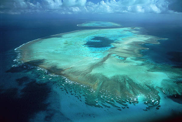 Photograph - Aerial View Of Heron Island by D Parer and E Parer Cook