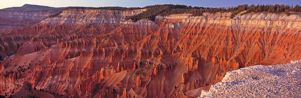Cedar Breaks Photograph - Aerial View Of Jagged Rock Formations by Panoramic Images