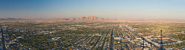 Stratosphere Wall Art - Photograph - Aerial View Of Las Vegas by Panoramic Images