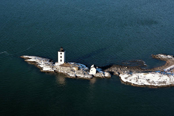 Narragansett Photograph - Aerial View Of Lighthouse On Aquidneck by Panoramic Images