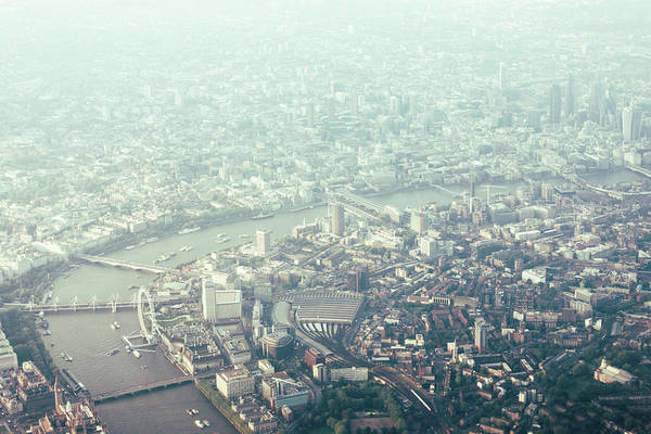 South Bank Photograph - Aerial View Of London And The River by Urbancow