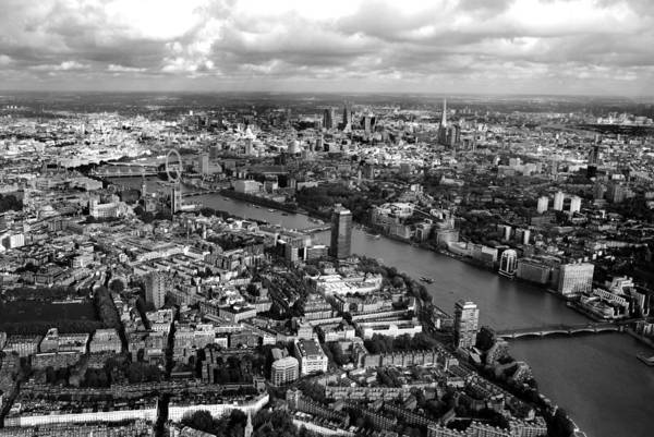 Parliament Photograph - Aerial View Of London by Mark Rogan