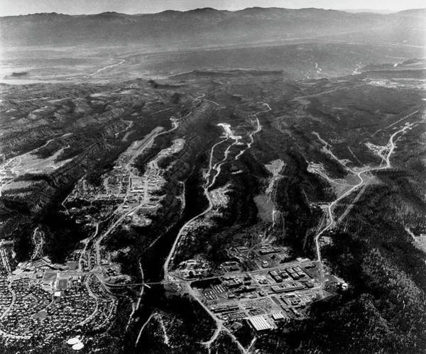 Nuclear Bomb Wall Art - Photograph - Aerial View Of Los Alamos Site by Los Alamos National Laboratory/science Photo Library
