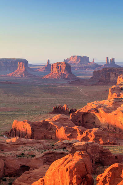 The Mitten Photograph - Aerial View Of Monument Valley by Michele Falzone