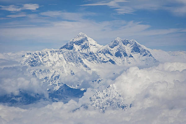 Aerial View Of Mount Everest, Nepal, 2007 Art Print