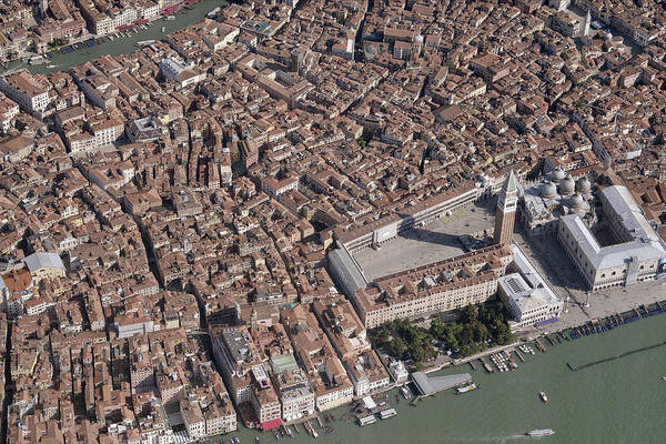 Wall Art - Photograph - Aerial View Of Piazza San Marco, Venice by Blom ASA