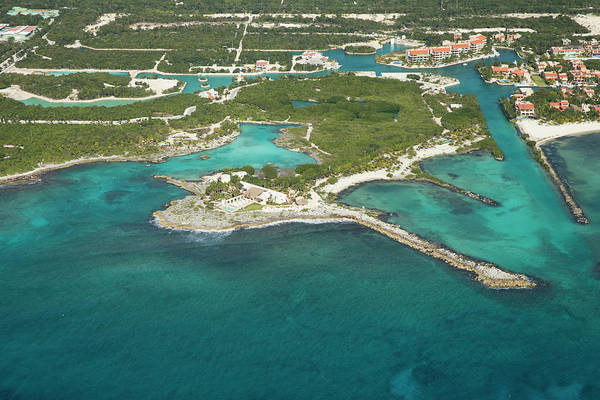 Wall Art - Photograph - Aerial View Of Riviera Maya Coastline by Mauricio Ramos
